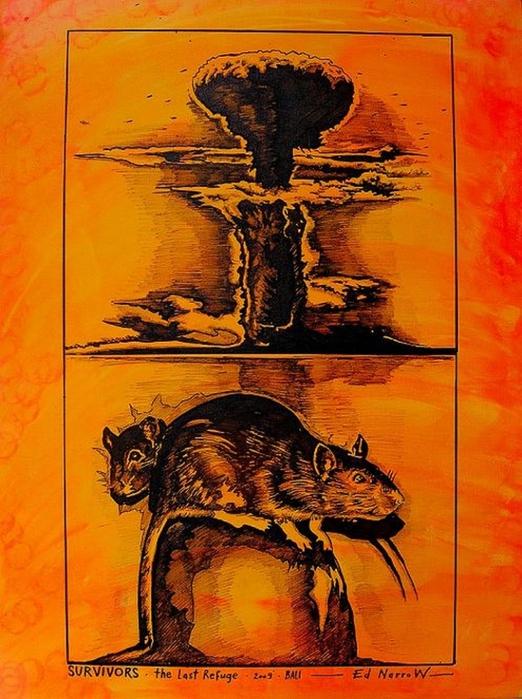 Яркий сюрреализм в искусстве Эда Нэроу (Ed Narrow) - Survivors (522x700, 310Kb)