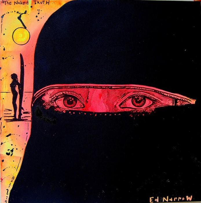 Яркий сюрреализм в искусстве Эда Нэроу (Ed Narrow) - The Naked Truth (694x700, 103Kb)
