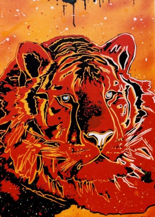 Яркий сюрреализм в искусстве Эда Нэроу (Ed Narrow) - tiger (501x700, 333Kb)