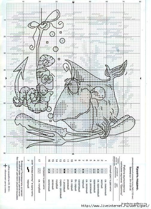 улов рыбака схема вышивки
