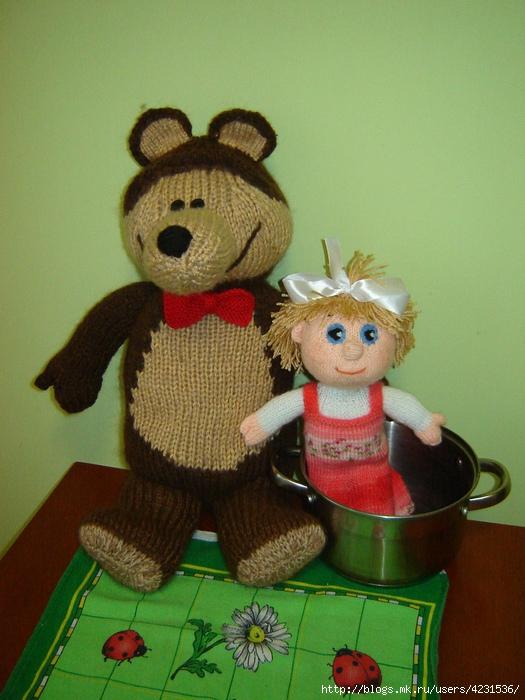 Маша и медведь крючком фото