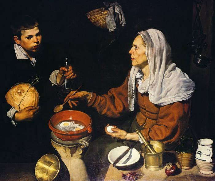 Старуха, жарящая яичницу (Кухарка)1618 (700x590, 56Kb)