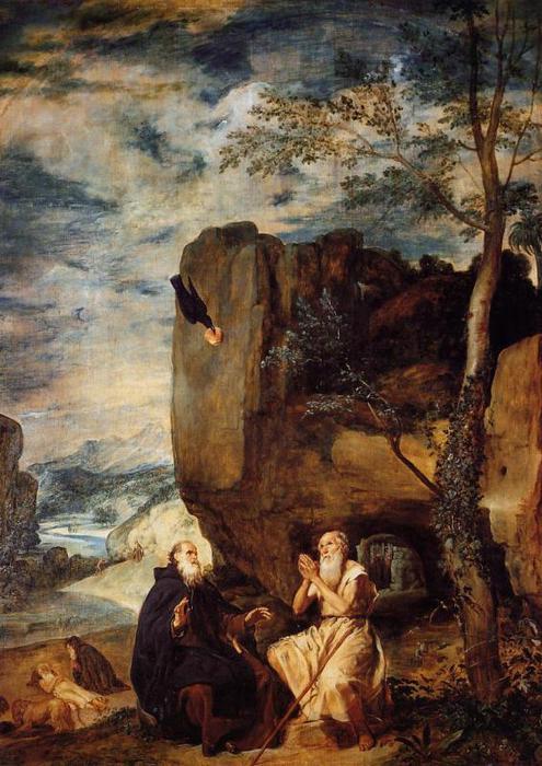 Святые Антоний и Павел (495x700, 69Kb)