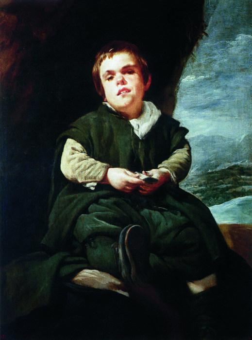 Портрет придворного карлика Франсиско Лескано по прозвищу Дитя Вальескаса (519x700, 77Kb)