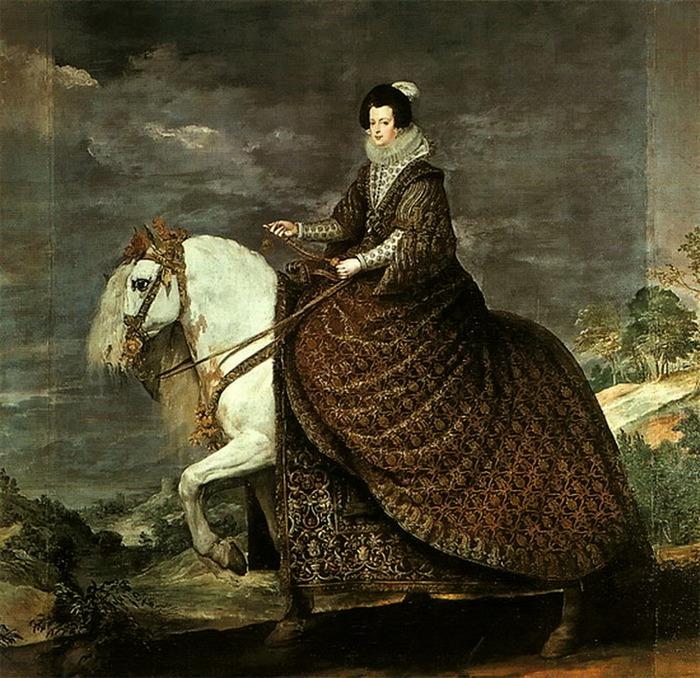 Королева Изабелла Бурбон на коне, 1634, Музей Прадо, Мадрид (700x678, 182Kb)