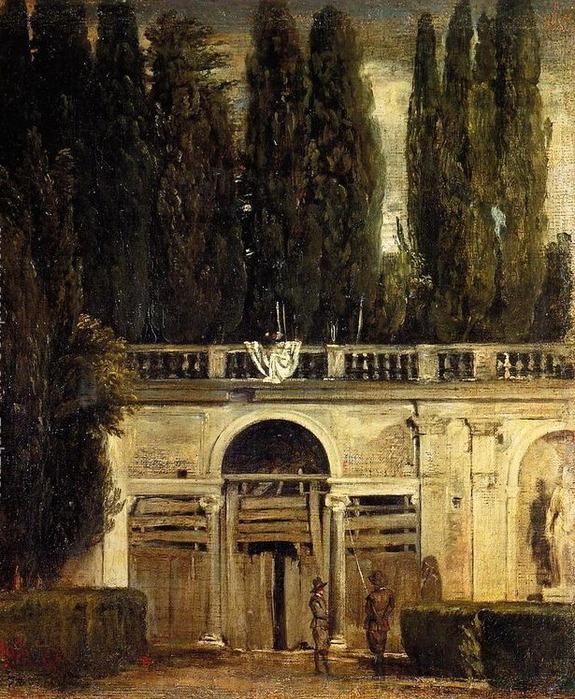 Вилла Медичи, Грот-Лоджия Фасад 1630 (575x700, 199Kb)