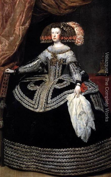 Королева Австрии Дона Мариана 1652-53 (439x700, 116Kb)