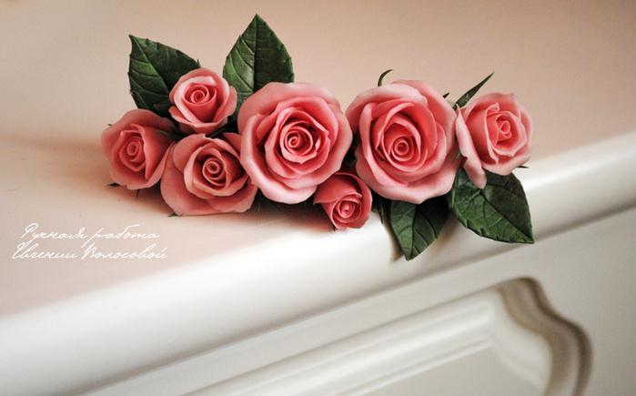 Заколка цветы своими руками