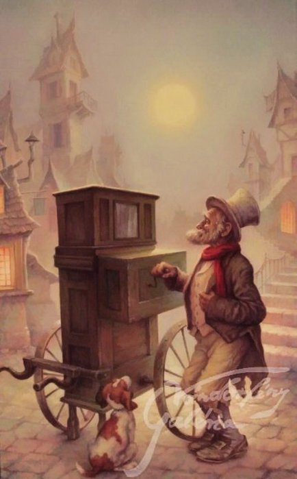 Дедушка с шарманкой (434x700, 44Kb)