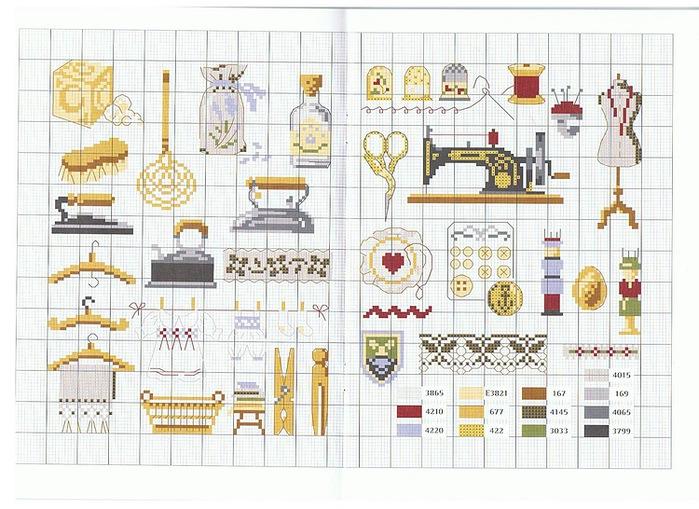 Я использую для этих целей схемы миниатюр для вышивания крестом.  Сделать их своими руками совсем не сложно.