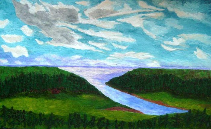 Северный пейзаж. (700x427, 50Kb)