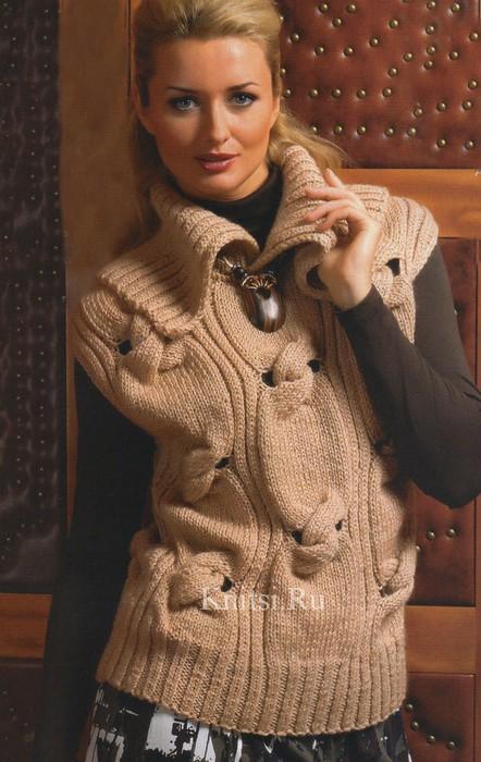 Безрукавный пуловер (442x700, 95Kb)