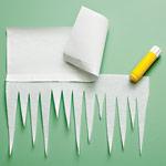 Как сделать сосульки из бумаги для детей