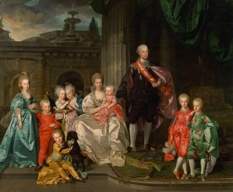 еопольда с женой Марией-Луизой и детьми (472x390, 29Kb)