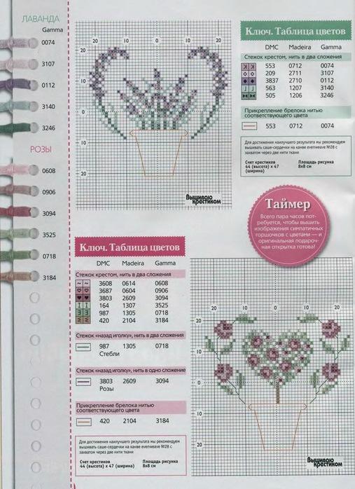 Любителям вышивки подборка схем и идей для саше и открытки с мотивами лаванды. в рекламном агентстве...