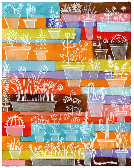 Flower pot party (517x650, 521Kb)