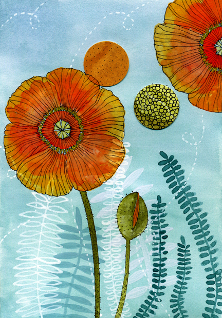 Poppies (432x620, 398Kb)