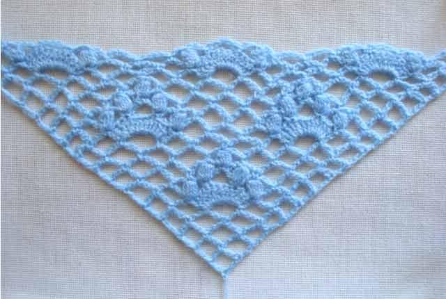 Схемы вязания шали крючком для начинающих.
