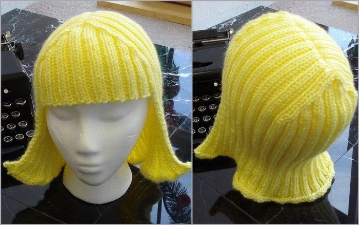 Как связать шапку парик своими руками