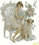 Превью Lanarte 71369 Girl with Dog (562x649, 63Kb)