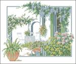 Превью Lanarte Terras met bloemen N°33926  (700x592, 354Kb)