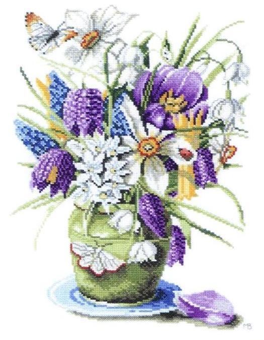 Вышивание крестиком картинки цветы 5