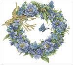 Превью Lanarte34736-Blue_Wreath (700x620, 319Kb)