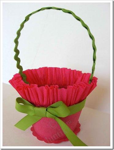 Корзины с цветами из бумаги своими руками