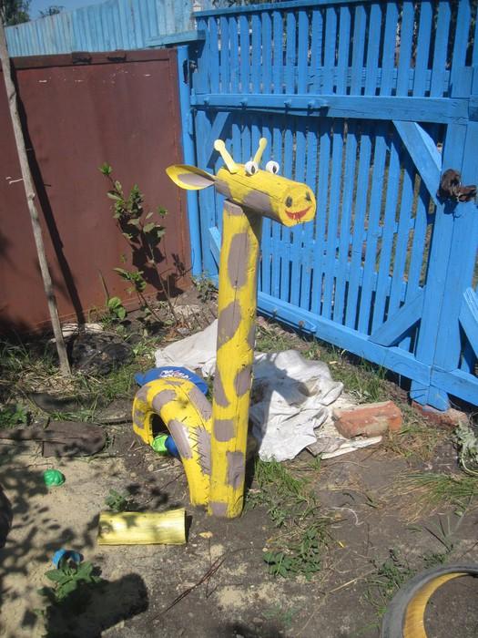 Жираф поделки своими руками на участок