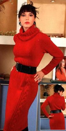 Красное платье (227x450, 33Kb)