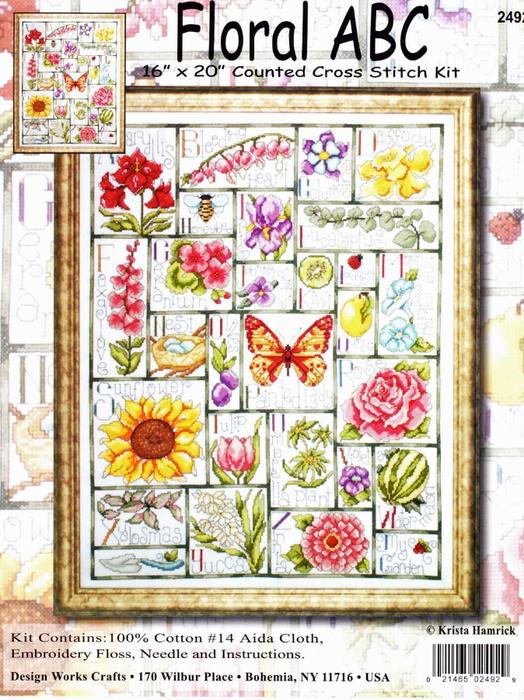 Design Works 2492_Floral ABC (524x700, 541Kb)