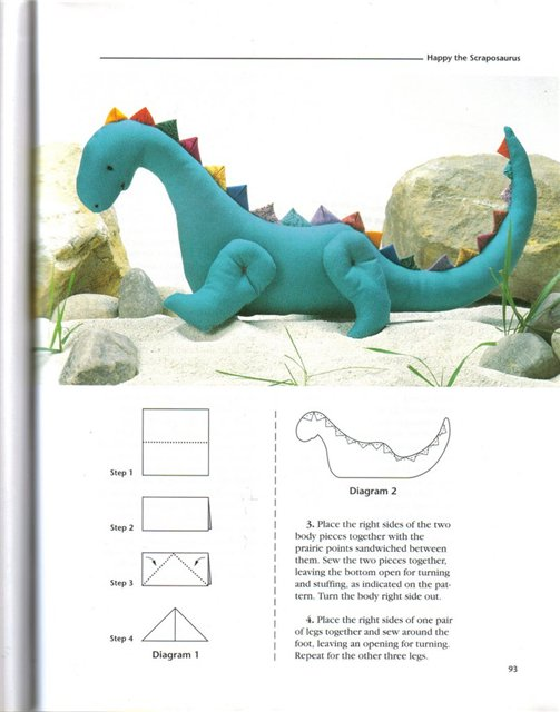 Мягкая игрушка динозавр своими руками