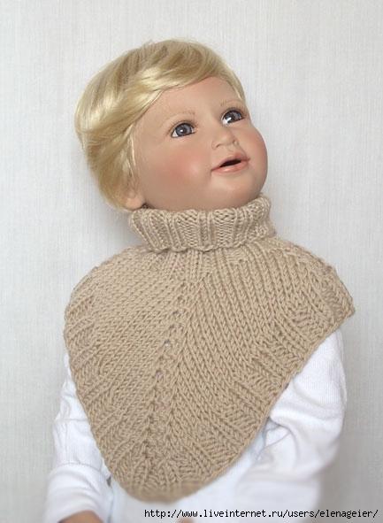 Модели вязанных манишек спицами фото и описание, шарф снуд сшить.