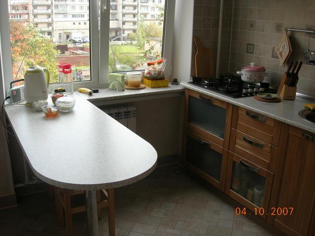 Маленькая кухня стол дизайн