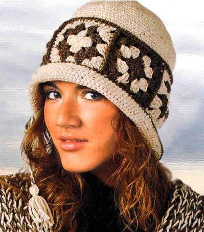 Ободок с кисточкой.  Оч стильная штучка).  Шляпка крючком в винтажном стиле.  Секрет вязания шапочки.