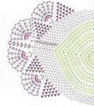 Вязание крючком салфетки необычной формы.