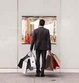 мужчина шопинг