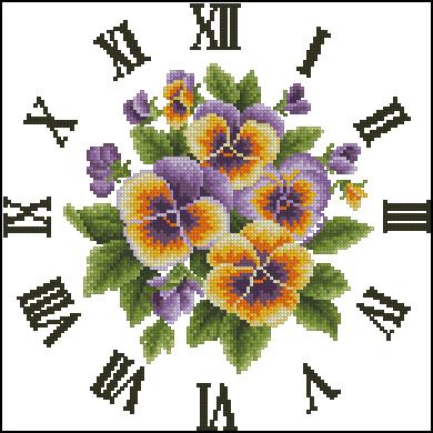 3971977_OTWO_Special_Pansies_Clock (390x390, 126Kb)