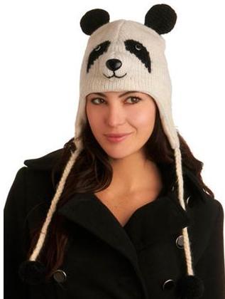 зимняя шапка с мордочкой