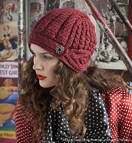 Вязаные шапки для женщин схемы.