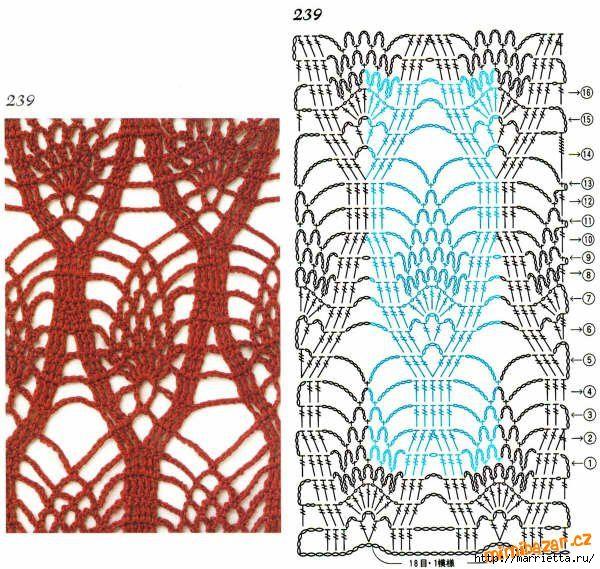 Вязание спицами ажур