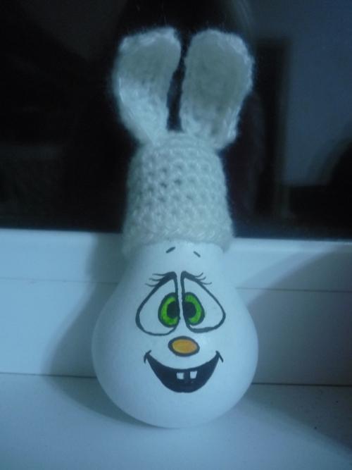Как сделать игрушку на ёлку из лампочки своими руками