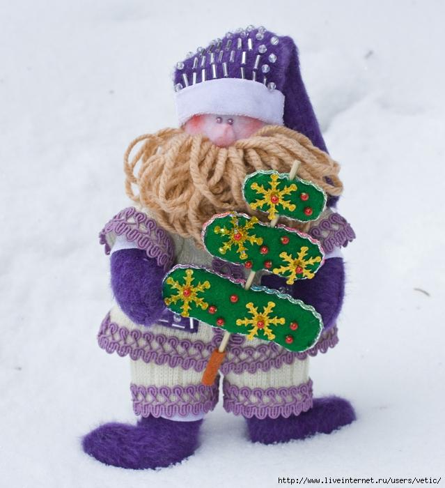 Санта Клаус в фиолетовом (Тильда) 01 (639x700, 292Kb)