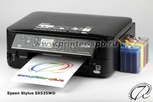 МФУ Epson SX535WD с СНПЧ класса ПРЕМИУМ