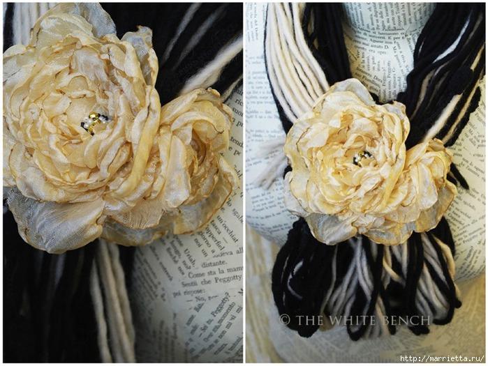 Цветы и банты из лент и ткани записи в