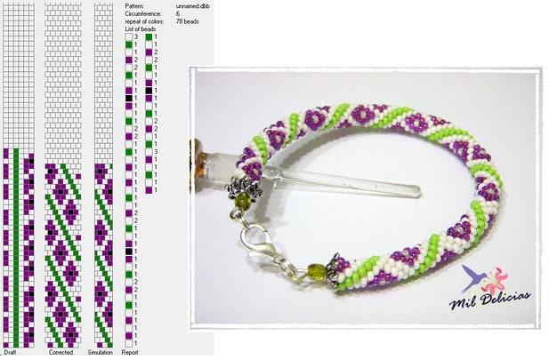 Схемы для вязаных бисерных