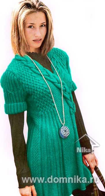 платье спицами вязание