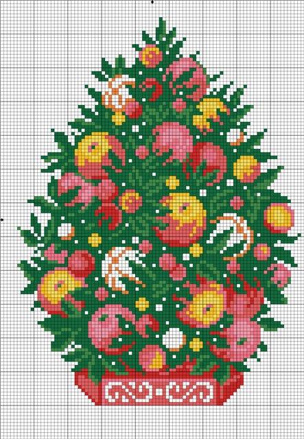 елка яблочная схема (443x640,