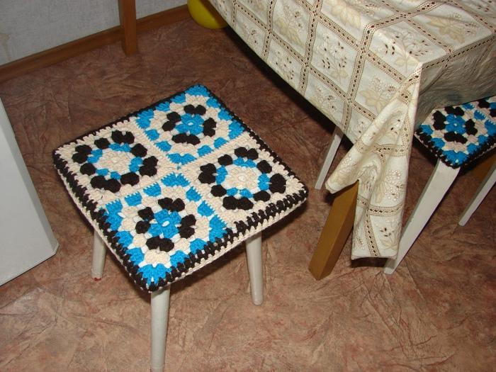Вязание ковриков на стул 75