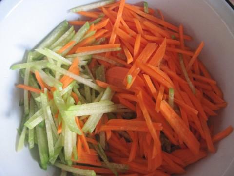Салат зелёная редька морковь фото
